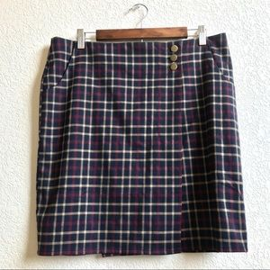 NWT Alice's Pig | Plaid Wrap Mini Skirt w/Pockets